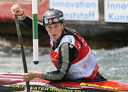 28.02.2013, Eiskanal, Augsburg, GER, ICF Kanuslalom Weltcup, 2. Rennen, im Bild Rosalyn LAWRENCE (AUS), C1, Canadier Einer, // during 2nd race of ICF Canoe Slalom World Cup at the ice track, Augsburg, Germany on 2013/06/28. EXPA Pictures © 2013, PhotoCredit: EXPA/ Eibner/ Klaus Rainer Krieger<br /> <br /> ***** ATTENTION - OUT OF GER *****
