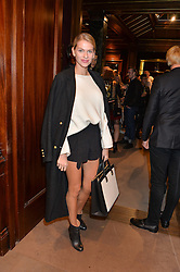 BARBORA BEDIOVA at the opening of the exhibition 'My Mother Was A Reeler' at Etro, 43 Old Bond Street, London on 5th October 2016.