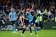 SYDNEY, AUSTRALIA - MAY 12: Sydney FC forward Alex Brosque (14) kicks the ball at the Elimination Final of the Hyundai A-League Final Series soccer between Sydney FC and Melbourne Victory on May 12, 2019 at Netstrata Jubilee Stadium in Sydney, Australia. (Photo by Speed Media/Icon Sportswire)