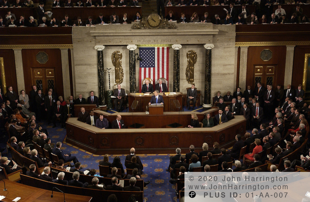 President Bush delivers his 2003 State of the Union Address to a joint session of Congress.