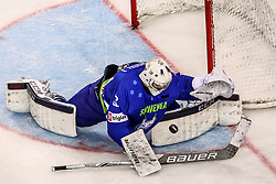 Gasper Kroselj of Slovenia during Ice Hockey match between National Teams of Hungary and Slovenia in Round #3 of 2018 IIHF Ice Hockey World Championship Division I Group A, on April 25, 2018 in Arena Laszla Pappa, Budapest, Hungary. Photo by David Balogh / Sportida