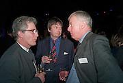 GRAHAM ALLDIS; IAN RANKIN; MARK STREATFEILD, Orion Authors' Party celebrating their 20th anniversary. Natural History Museum, Cromwell Road, London, 20 February 2012.