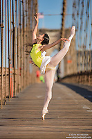 Dance As Art  New York City Photography Brooklyn Bridge Series with ballerina, Xiaoxiao Cao