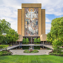 Hesburgh Library, University of Notre Dame (Photo by Matt Cashore)