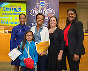 Martinez Elementary School is recognized during the reveal of the 32 finalists in the Houston ISD NCAA Read to the Final Four, November 11, 2015.