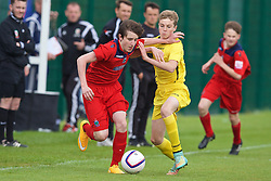 NEWPORT, WALES - Wednesday, May 27, 2015: North WPL Academy Boys' Ryan Barrett during the Welsh Football Trust Cymru Cup 2015 at Dragon Park. (Pic by David Rawcliffe/Propaganda)