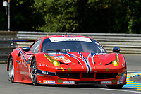 William Sweedler (USA) / Towsend BELL (USA) / Jeffrey SEGAL (USA) #62 Scuderia Corsa Ferrari 458 ITALIA,  during Le Mans 24 Hr June 2016 at Circuit de la Sarthe, Le Mans, Pays de la Loire, France. June 15 2016. World Copyright Peter Taylor/PSP. Copy of publication required for printed pictures.  Every used picture is fee-liable. http://archive.petertaylor-photographic.co.uk