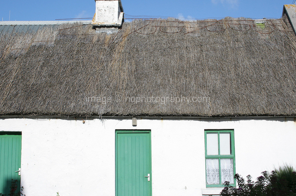 tatched cottage on the Aran Islands County Galway Ireland