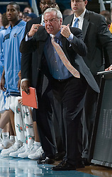 04 February 2006: UNC head coach Roy Williams during a Clemson Tigers 61-76 loss to the North Carolina Tarheels, in the Dean Smith Center in Chapel Hill, NC.