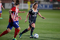 Atletico de Madrid´s Sonia and Olympique Lyonnais´s Henry during UEFA Women´s Champions League soccer match between Atletico de Madrid and Olympique Lyonnais, in Madrid, Spain. November 11, 2015. (ALTERPHOTOS/Victor Blanco)