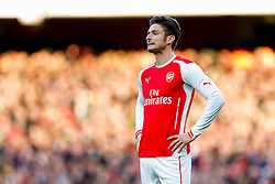 Olivier Giroud of Arsenal looks frustrated - Photo mandatory by-line: Rogan Thomson/JMP - 07966 386802 - 15/02/2015 - SPORT - FOOTBALL - London, England - Emirates Stadium - Arsenal v Middlesbrough - FA Cup Fifth Round Proper.