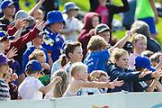 Fans on the bank during the Otago Volts vs Wellington Firebirds, Burger King Super Smash - Men 2018-19, University of Otago Oval, Dunedin, New Zealand. 27 January 2019. Copyright Image: Derek Morrison / www.photosport.nz