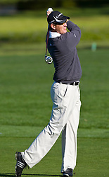 February 14, 2010; Pebble Beach, CA, USA;  Greg Owen on the second hole during the final round of the AT&T Pebble Beach Pro-Am at Pebble Beach Golf Links.