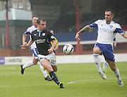 Dundee's Paul McGowan and Peterhead's Scott Ross - Dundee v Peterhead, League Cup at Dens Park<br /> <br />  - &copy; David Young - www.davidyoungphoto.co.uk - email: davidyoungphoto@gmail.com