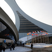 Montreal's Olympic Stadium (Stade olympique) was built for the 1976 summer Olympics. In recent years, since the Montreal Expos baseball team relocated to Washington DC, it has no regular tenant and is used for special events.