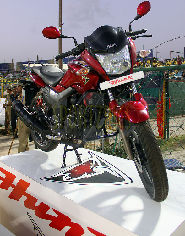 Hero Honda Hunk Bike during match 52 of the the Indian Premier League ( IPL ) Season 4 between the Rajasthan Royals and the Chennai Superkings held at the Sawai Mansingh Stadium, Jaipur, Rajatshan, India on the 9th May 2011..Photo by  Sandeep Shetty/BCCI/SPORTZPICS.