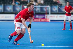 England's Michael Hoare. England v Argentina - Hockey World League Semi Final, Lee Valley Hockey and Tennis Centre, London, United Kingdom on 18 June 2017. Photo: Simon Parker