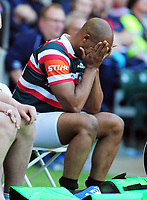 Rugby Union - 2016 / 2017 Aviva Premiership - Bath vs. Leicester ['The Clash']<br /> <br /> A dejected JP Pietersen of Leicester sits in the sin bin after been given the yellow after which , Anthony Watson scored the winning try for Bath at Twickenham.<br /> <br /> COLORSPORT/ANDREW COWIE