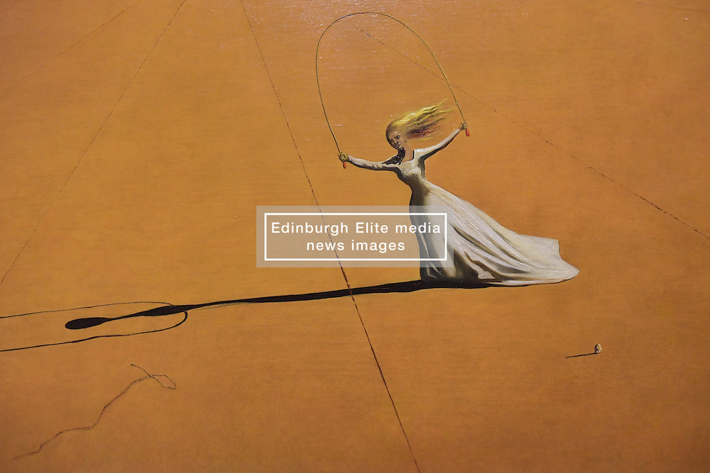 Salvador Dali, Landscape with a Girl Skipping Rope (detail), Scottish National Gallery of Modern Art  (Modern One) Surreal Encounters Collection, Edinburgh, 2nd June 2016, <br /> (c) Brian Anderson | Edinburgh Elite media