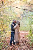 Carolyn & Travis' beautiful fall engagement photo shoot at Riverside Park, Cambridge