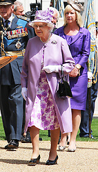 The Queen at the unveiling of the Bomber Command Memorial in Green Park, London,  Thursday 28th June 2012 Photo by: Stephen Lock / i-Images