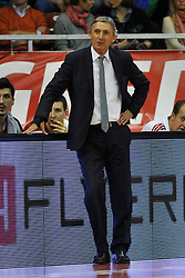25.02.2014, Audi Dome, Muenchen, GER, Beko Basketball BL, FC Bayern Muenchen Basketball vs Artland Dragons, 22. Runde, im Bild Svetislav Pesic, Cheftrainer (FC Bayern Muenchen Basketball), Einzelbild, entspannt // during the Beko Basketball Bundes league 22. round match between FC Bayern Munich Basketball and Artland Dragons at the Audi Dome in Muenchen, Germany on 2014/02/25. EXPA Pictures © 2014, PhotoCredit: EXPA/ Eibner-Pressefoto/ Buthmann<br /> <br /> *****ATTENTION - OUT of GER*****