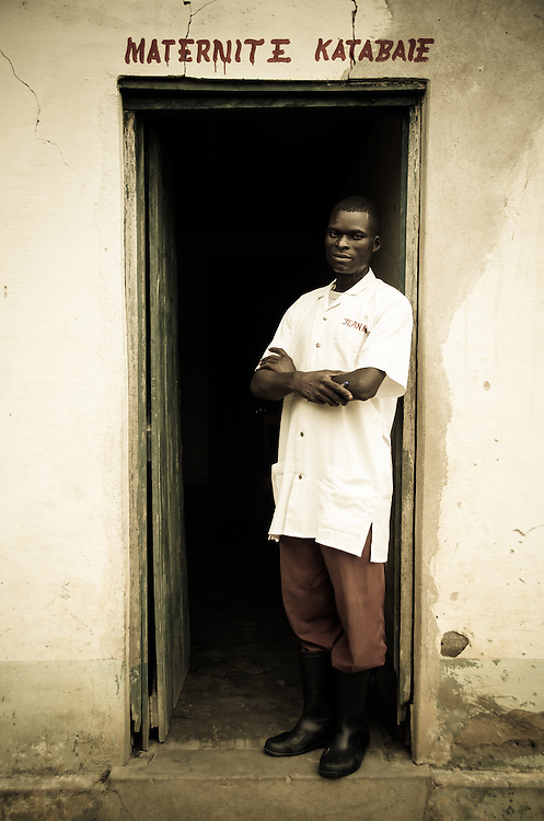 A young doctor in a small rural medical clinic, south of Mwene-Ditu, DRC.