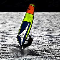 Windsurfer at Sandy Hook National Park New Jersey