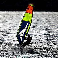 Windsurfer at Sandy Hook National Park New Jersey