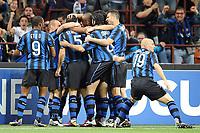 Milano, 05/04/2011<br /> Champions League/Inter-Schalke 04<br /> Gol Inter: Stankovic esulta con i compagni