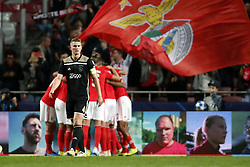 (l-r) Matthijs de Ligt of Ajax during the UEFA Champions League group E match between  SL Benfica and Ajax Amsterdam at Estadio La Luz on November 97, 2018 in Lisbon, Portugal