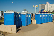 Public rest room in an open air event, Tel Aviv, Israel