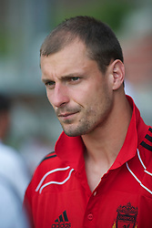 ZUG, SWITZERLAND - Wednesday, July 21, 2010: Liverpool's Milan Jovanovic before the Reds' first preseason match of the 2010/2011 season against Grasshopper Club Zurich at the Herti Stadium. (Pic by David Rawcliffe/Propaganda)