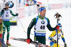 Simon Schempp (GER) in action during the Pursuit Men 12,5 km at day 8 of IBU Biathlon World Cup 2018/19 Pokljuka, on December 9, 2018 in Rudno polje, Pokljuka, Pokljuka, Slovenia. Photo by Urban Urbanc / Sportida