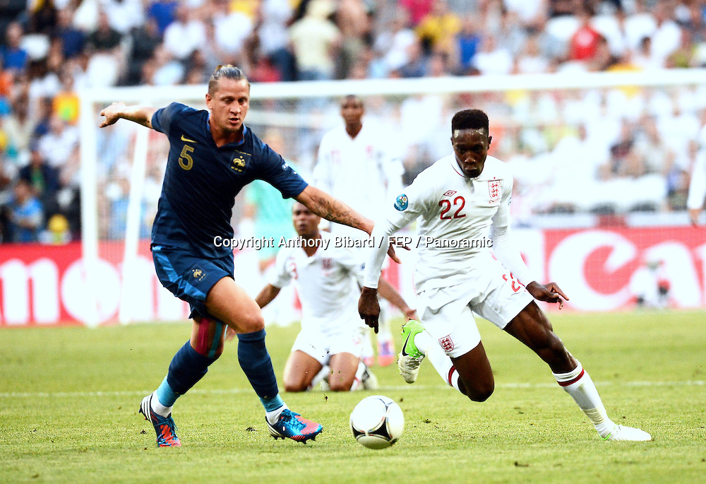 Philippe Mexes (France) contre Danny Welbeck (Angleterre)