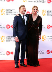 Sean Bean and Ashley Moore attending the Virgin TV British Academy Television Awards 2018 held at the Royal Festival Hall, Southbank Centre, London. PRESS ASSOCIATION Photo. Picture date: Sunday May 13, 2018. See PA story SHOWBIZ Bafta. Photo credit should read: Isabel Infantes/PA Wire
