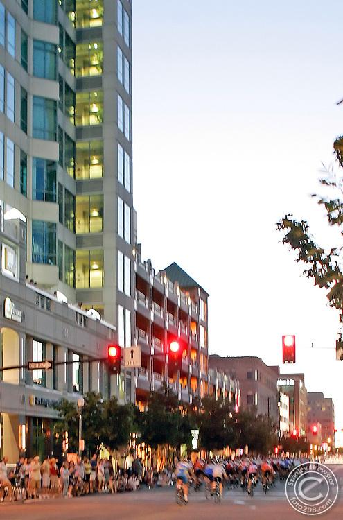 Boise, ID.  7-23-05   Ninteenth annual Twilight Criterium in downtown Boise.