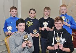 Westport AC's U14 Boys Cross Country national medalists at the Club's awards presentation, Seated Adam Sheridan and Ethan Lloyd, Standing LtoR Oisin Ryall, Malcolm McEvilly, Rossa McAllister and Shane O'Malley.<br /> Pic Conor McKeown