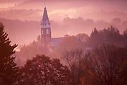 PA landscapes, mountains, sunrise mist, Brookville