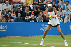 June 24, 2017 - Birmingham, England - GARBINE MUGURUZA of Spain in her semifinal match v. A. Barty in the Aegon Classic Birmingham tennis tournament. (Credit Image: © Christopher Levy via ZUMA Wire)