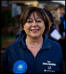 Conservative Candidate for the Eastleigh byelection Maria Hutchings out campaigning in Eastleigh, Thursday February 14, 2013. Photo by Andrew Parsons / i-Images
