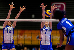 01-04-2017 NED:  CEV U18 Europees Kampioenschap vrouwen dag 1, Arnhem<br /> Rusland - Italie 0-3 / Irina Soboleva #12, Olga Zvereva #7