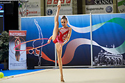 Annapaola Cantatore from Iris team during the Italian Rhythmic Gymnastics Championship in Padova, 25 November 2017.