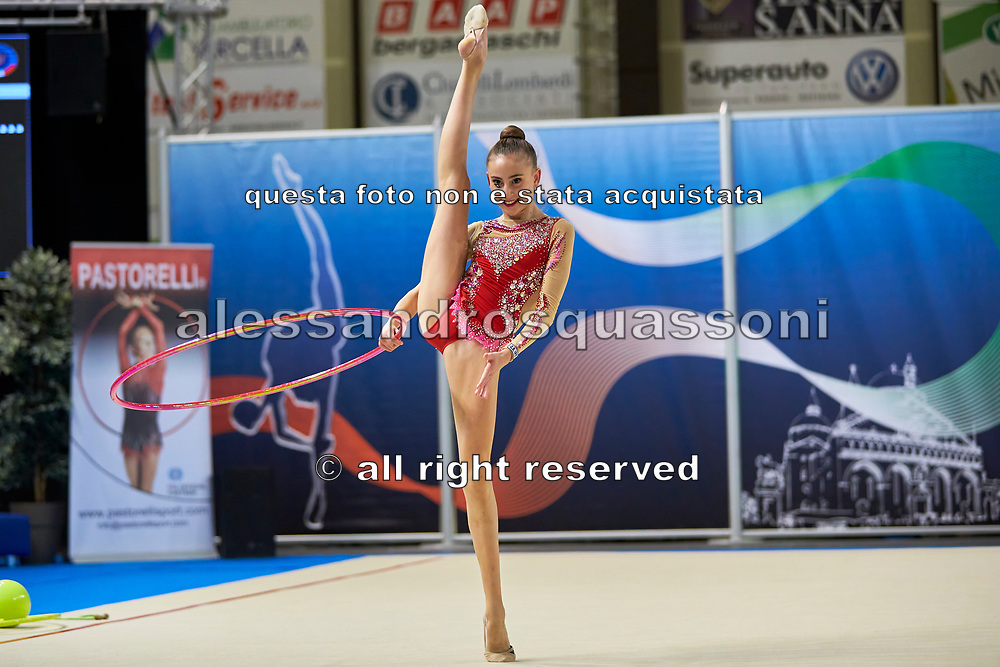 Annapaola Cantatore from Iris team during the Italian Rhythmic Gymnastics Championship in Padova, 25 November 2017.