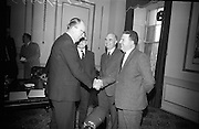 Candidates Nominated for Presidency. Mr. T.F. O'Higgins T.D., Fine Gael, who was nominated for the presidency, at the Custom House, Dublin..10.05.1966