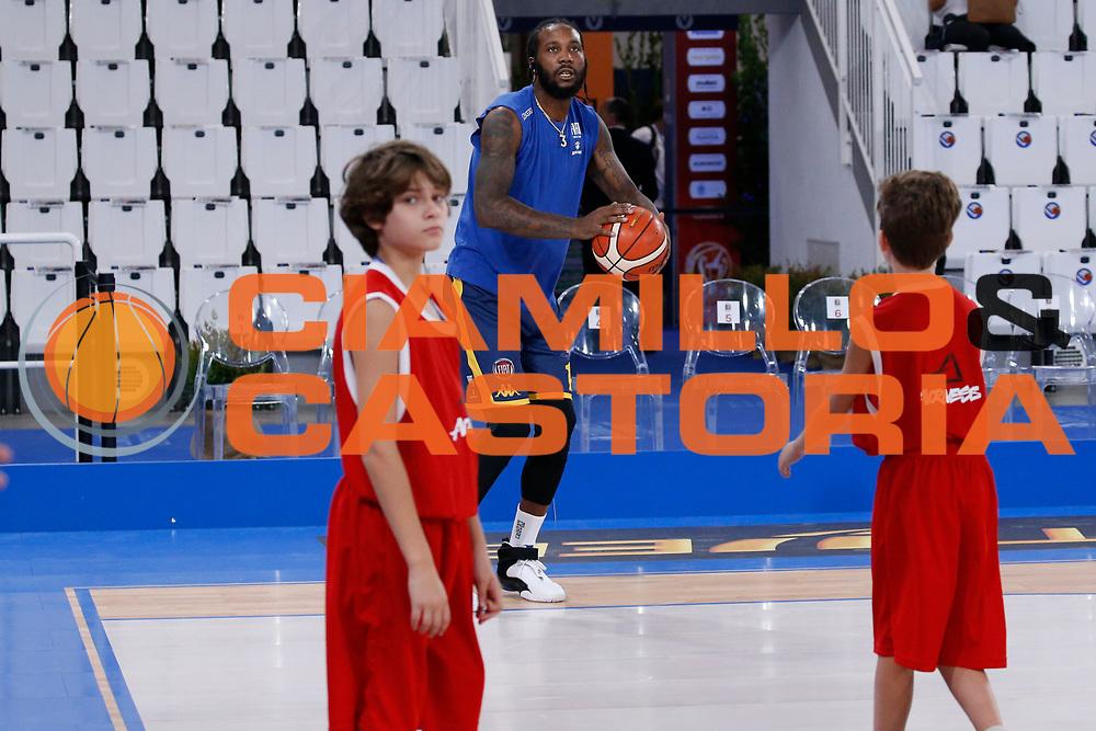 Taylor Jamal Tyshawn<br /> A X Armani Exchange Milano - Fiat Torino<br /> Zurich Connect Supercoppa 2018-2019<br /> Lega Basket Serie A<br /> Brescia 30/09/2018<br /> Foto Ciamillo & Castoria