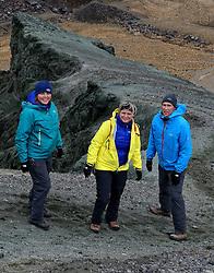 05-07-2014 NED: Iceland Diabetes Challenge dag 1, Landmannalaugar <br /> Vandaag ging de challenge van start. Met een bus gingen we van Vogar naar Landmannalaugar en zagen we de eerste tekenen van het prachtige landschap van IJsland / Sabine, Petra, Eddy
