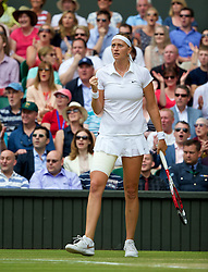 LONDON, ENGLAND - Saturday, July 5, 2014: Petra Kvitova (CZE) during the Ladies' Singles Final match on day twelve of the Wimbledon Lawn Tennis Championships at the All England Lawn Tennis and Croquet Club. (Pic by David Rawcliffe/Propaganda)
