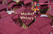 A decorated mortarboard during the Concord Carlisle High School graduation exercise for the Class of 2017 in Concord, June 3, 2017.   [Wicked Local Photo/James Jesson]