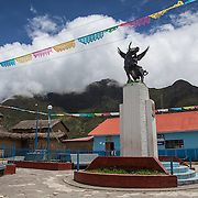 Town of Marcapata, Peru. The Interoceanica Sur highway between Cusco and Puerto Maldonado, Peru. A 430 kilometer section of the transcontinental Interoceanic Highway that crosses Peru and Brazil.
